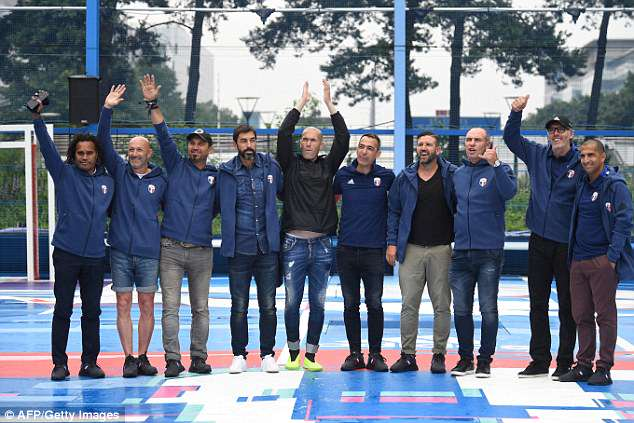 Members of France's 1998 World Cup-winning squad reunited 20 years on from their triumph