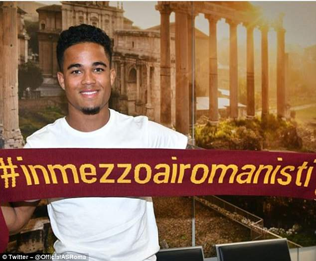 Image result for Justin Kluivert roma