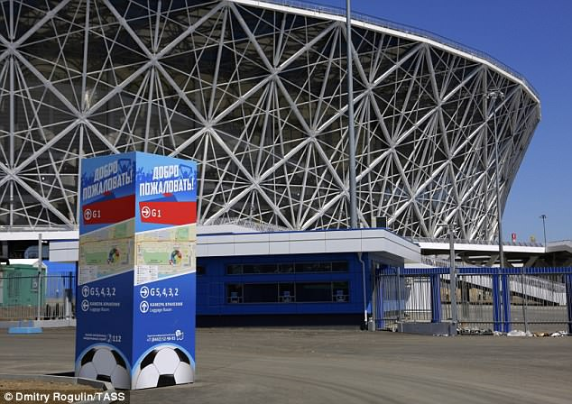 Volgograd Arena, one of the sports venues of the forthcoming FIFA World Cup Russia 2018