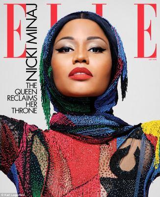 Nicki Minaj Pose with Fashion Legend,Karl Lagerfeld on the cover of Elle Magazine