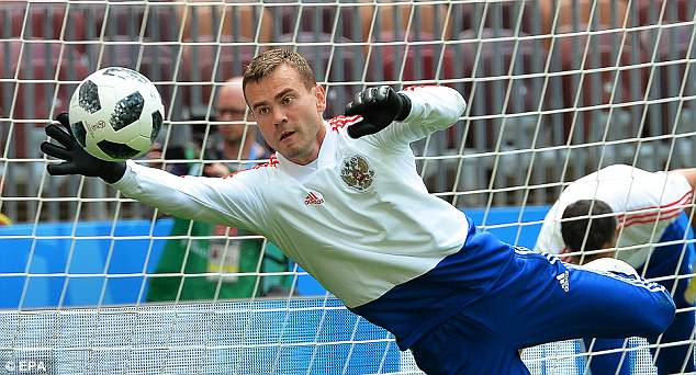 Igor Akinfeev has the honour of captaining his country as they host the 2018 World Cup