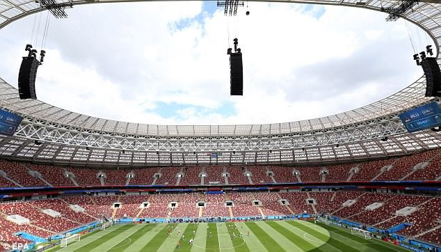Ahead of that they trainedat the Luzhniki stadium on Wednesday - the venue for the match