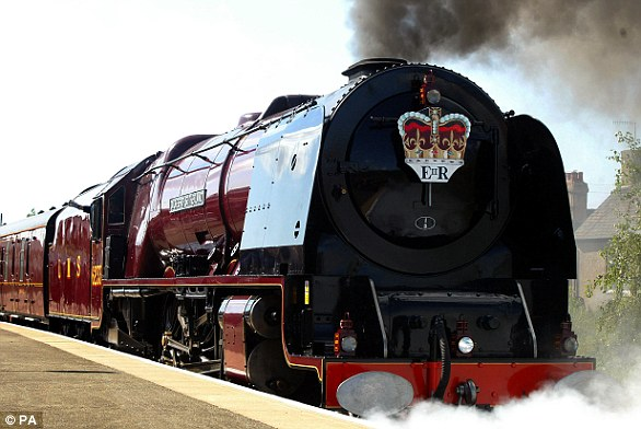 Royal sleepover!The monarch has invited Meghan to accompany her for a day of engagements on Thursday and the pair will travel together on board the Royal Train (pictured)