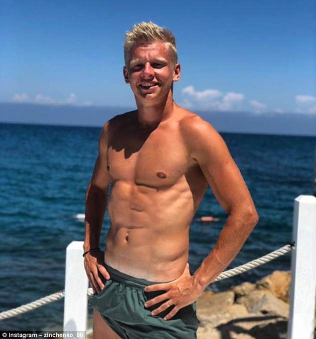 Manchester City prospect Oleksandr Zinchenko showed he is still keeping in shape on holiday