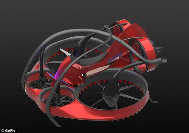 Mamba, a hexcopter emphasizing safety, certifiability, and performance incorporating shrouded rotors and a tilting empennage