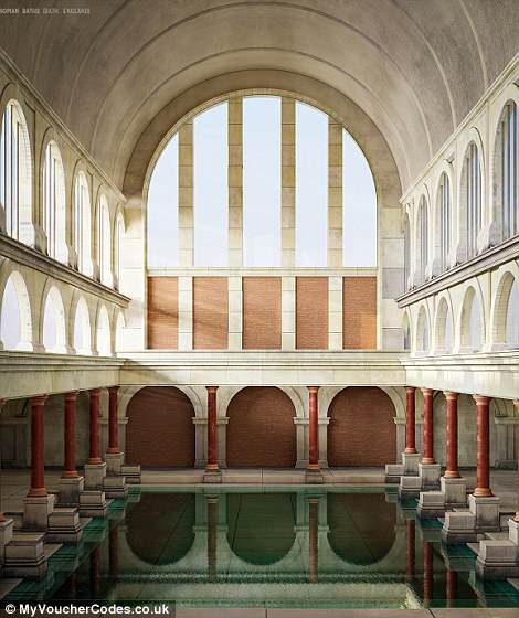 When it was first built, historians believe the Roman baths were originally covered in a 45-metre-high barrel-vaulted roof