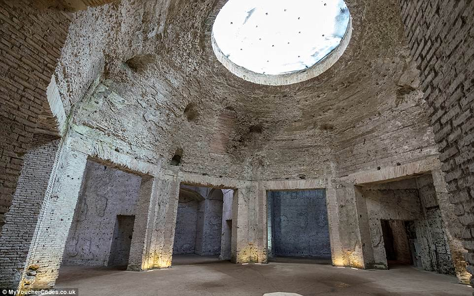 Constructed between 65 and 68 AD by one of Rome's most notorious emperors, theDomus Aurea Octagonal Court now lies in ruins