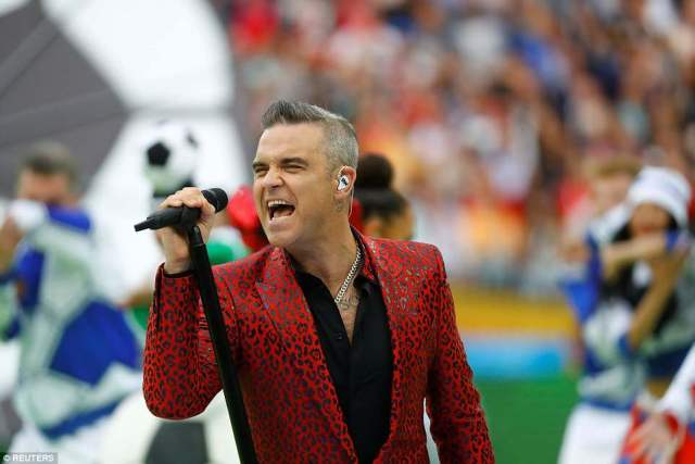 UK pop sensation Robbie Williams headlined the World Cup opening ceremony at the Luzhniki Stadium in Moscow