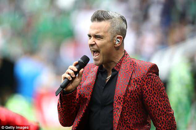 Robbie Williams headlined the World Cup opening ceremony at Moscow's Luzhniki Stadium
