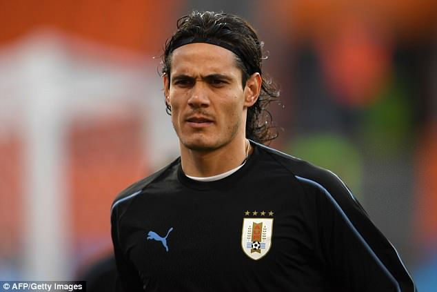 The Uruguay squad features several recognisable faces, such as PSG striker Edinson Cavani