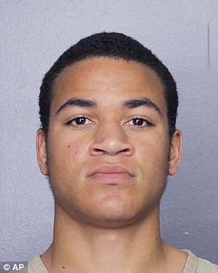 Zachary was arrested in March for trespassing on a skateboard at the Parkland, Florida, high school (pictured in court in May)