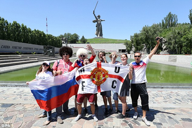 England supporters are in high spirits ahead of their side's Group G opener against Tunisia