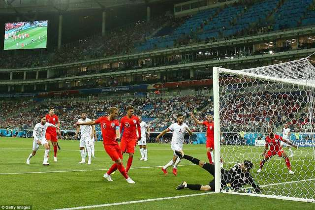 Captain Kane was on hand to turn home England's opener after John Stones' bullet header was clawed away by the 'keeper
