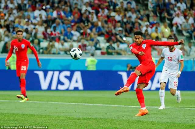 Another massive chance goes begging as Lingard fires a volley from 12 yards out, but it ricochets off a Tunisian defender