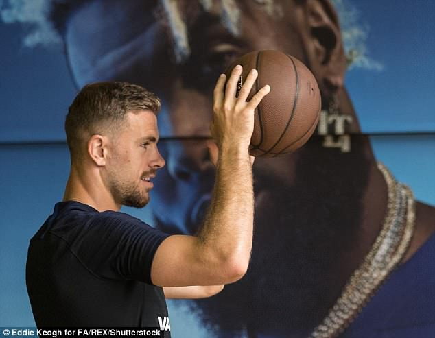 Henderson was another player who traded sports during the session with the basketball