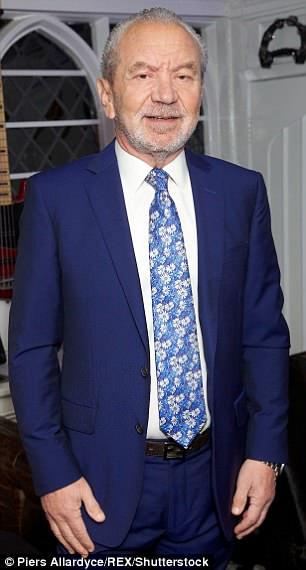Lord Sugar (abgebildet in Essex im Februar 2016) weigerte sich zunächst, sich zu entschuldigen