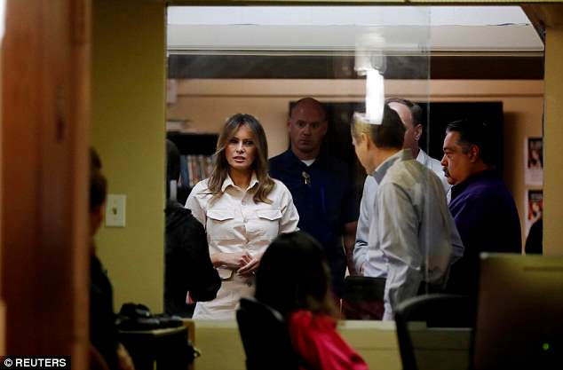 Visit: Melania Trump made an unexpected trip to Upbring New Hope Children's Shelter, where 55 children are currently being held