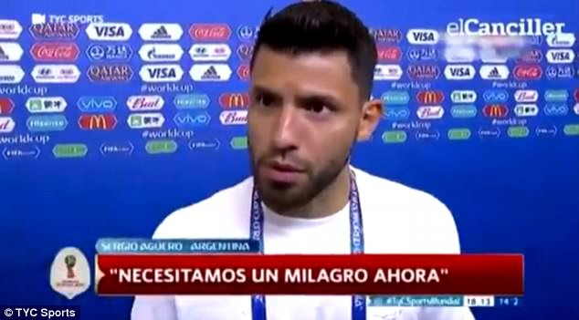 Sergio Aguero appeared to hit out at Jorge Sampaoli after Argentina's loss to Croatia