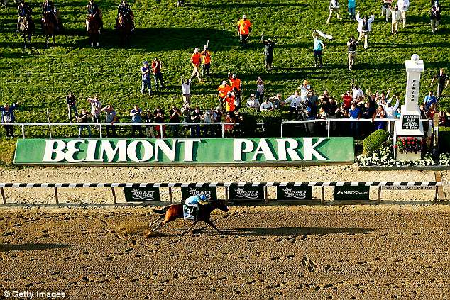 The employee, who has not been identified, was found unconscious June 1 outside the stadium's housing unit in Belmont Park (pictured) where they lived. They died days later