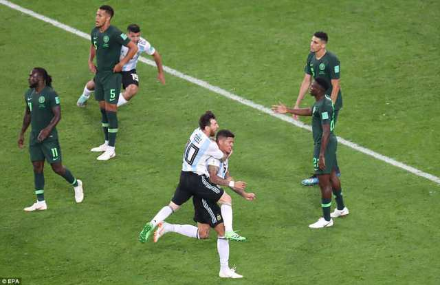 Argentina's late show means they will advance to the last 16 as a devastated Nigeria were dumped out of the competition