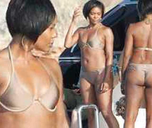 Gabrielle Union Looks Amazing In Nude Bikini On Boat In Formentera