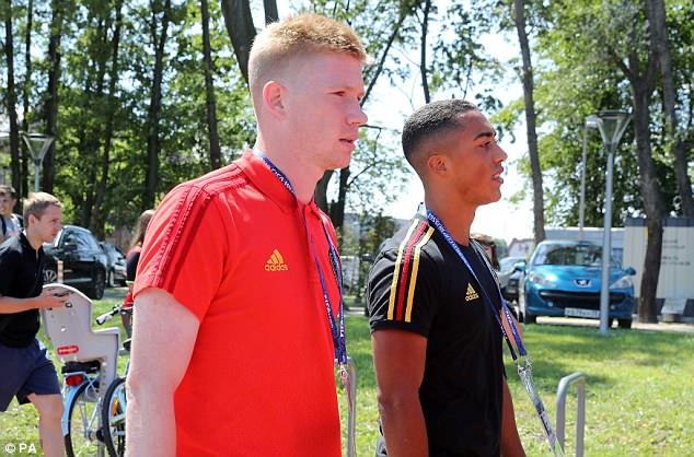 Kevin De Bruyne and his Belgium team-mates enjoyed a brief stroll around Kaliningrad