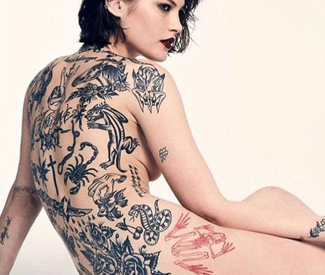 Tattooed Australian Model Catherine Mcneil Shows Off Her Elaborate Body