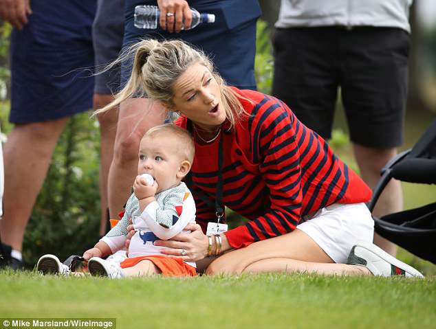 Doting parents: Also in attendance for the event was singer Ronan Keating, who was supported by his wife Storm and their one-year-old son Cooper