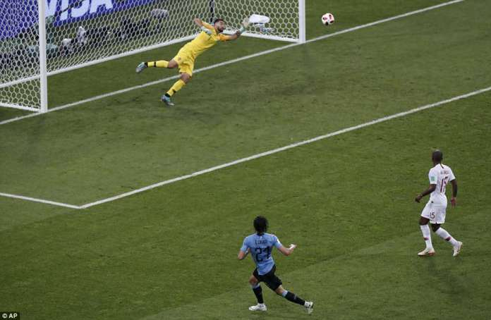 But Uruguay were back in front and heading for the quarter-finals when Cavani bent a right-foot effort into the far corner