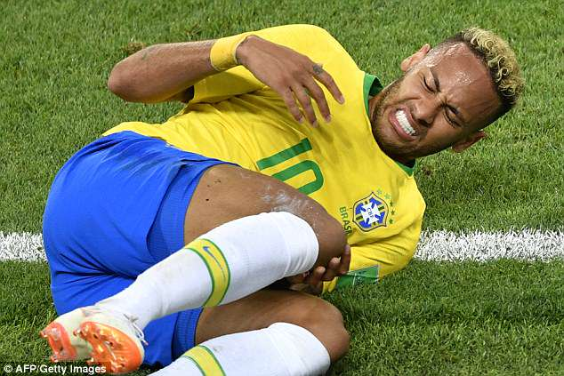 Neymar had been criticised for his flamboyant blond curls in previous matches