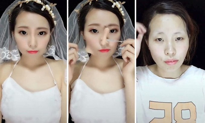 make-up transformation trend sweeping china: before and