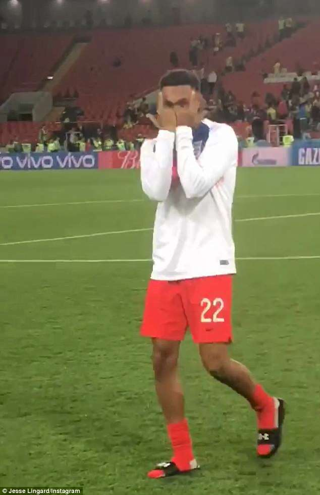 Jesse Lingard and Trent Alexander-Arnold chanted 'It's Coming Home' after beating Colombia