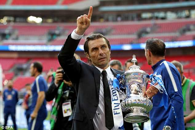 Conte guided Chelsea to the FA Cup last season but is set to leave this summer