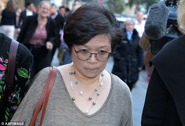 Rita Caelo's s sister Angelina Chye (pictured) told the court on Thursday that her family hasn't heard from Mark Caleo since Rita was killed 18 years ago