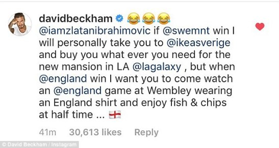 The former England captain ups the stakes by offering to personally take Ibrahimovic to IKEA