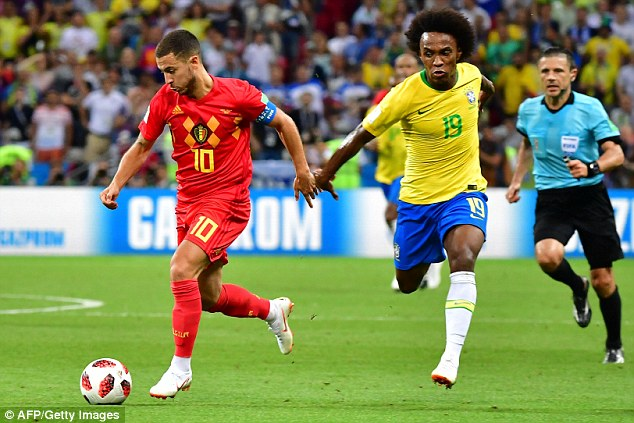 Hazard shone for Belgium in the quarter-final victory, leading by example for his country