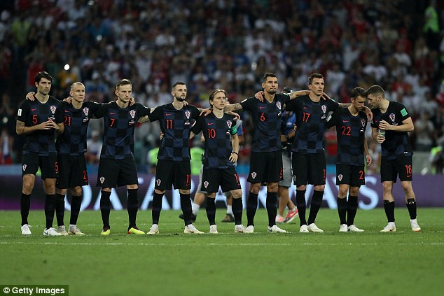 Croatia will wear their black-and-blue second strip against England in Moscow on Wednesday