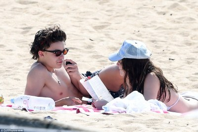 Jack Depp ,Girlfriend and Mother,Vanessa Paradis at a beach in France