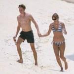 Taylor Swift and  beau Joe Alwyn in Turks And Caicos