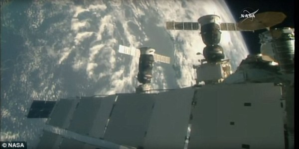 Russian cargo ship arrives at International Space Station ...