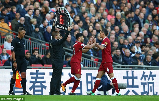 Lovren had such a difficult game that he was hooked by Jurgen Klopp after 30 minutes