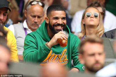 Drake Cheers on Serena Williams at Wimbledon quarterfinal match but her fans think he is bad luck