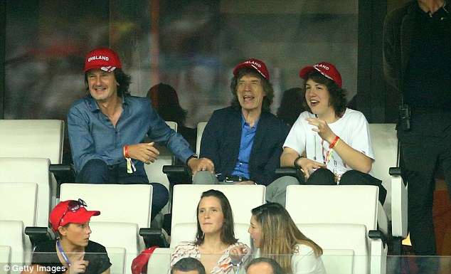 Football fans: In 2016 Mick took his son Lucas to the UEFA Euro 2016 match