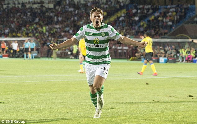 James Forrest scored as Celtic beat Alashkert 3-0 on Tuesday  in Champions League qualifier