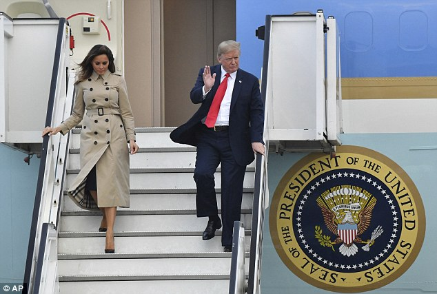 The president and first lady arrived in Europe on Tuesday for a week-long visit