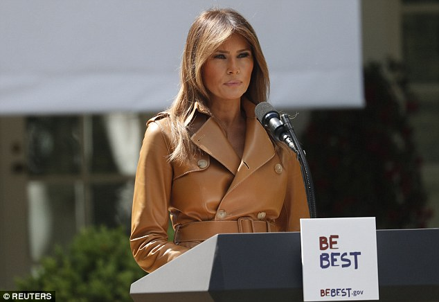 The first lady has focused on children's issues as part of her agenda