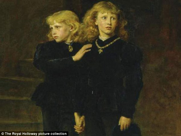 The suggestion is that Richard had had both boys (pictured) murdered, just in case anyone tried to dispute his rights and sought to put young Edward back on the throne