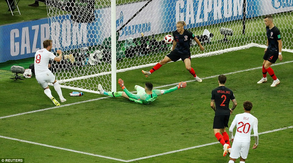 The England skipper was eventually flagged offside but not before he fired his rebound effort against the foot of the post