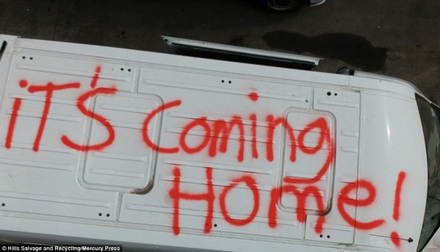 This van in Lancashire has 'It's Coming Home' scrawled on its roof as people get revved up for the game