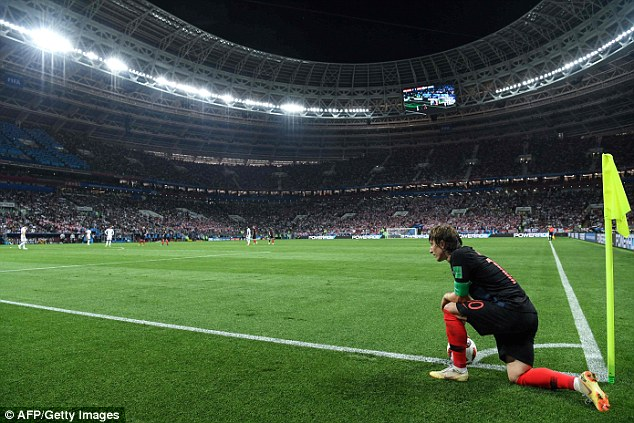The midfielder will lead Croatia into their first ever World Cup final, where they play France